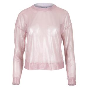 Women`s Goddess Mesh Crop Long Sleeve Tennis Top Lavender
