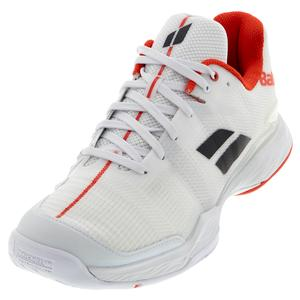 Men`s Jet Mach II All Court Tennis Shoes White and Red
