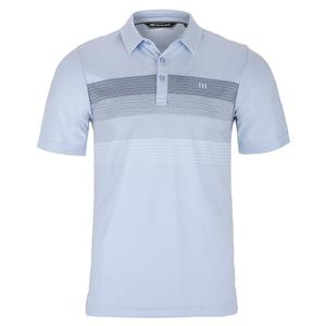 Men`s Open to Buy Tennis Polo Heather Kentucky Blue