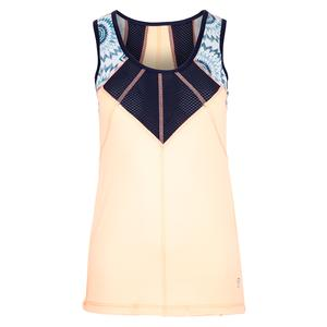 Women`s Full Back Tennis Top Souffle and Navy