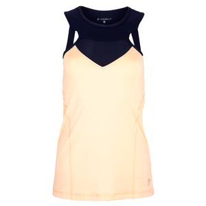 Women`s High Neck Tennis Top Souffle and Navy