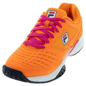 Women`s Axilus 2 Energized Tennis Shoes Orange Peel and White