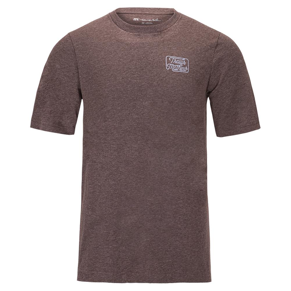 Men's Dollar Menu Tennis T- Shirt Heather Coffee