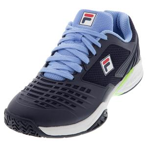 Men`s Axilus 2 Energized Tennis Shoes Fila Navy and White