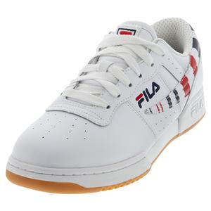 Men`s Original Fitness Stripe Shoes White and Navy