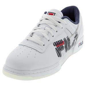 Men`s Original Fitness Graphic Shoes White and Navy