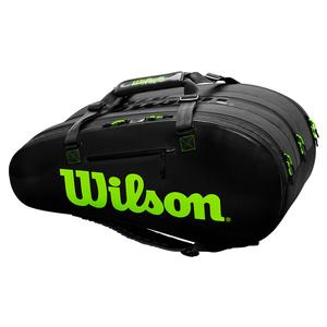 Super Tour 3 Comp Tennis Bag Black and Green