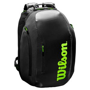 Super Tour Tennis Backpack Black and Green