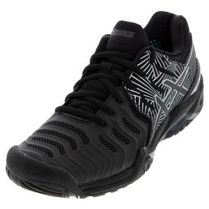 Women`s GEL-Resolution 7 LE Tennis Shoes Black and Silver