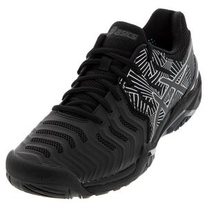 Men`s GEL-Resolution 7 LE Tennis Shoes Black and Silver