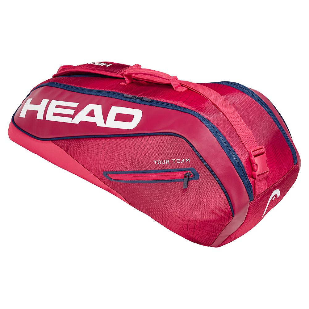 Tour Team 6r Combi Tennis Bag Raspberry And Navy