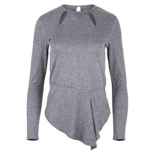Women`s Julieta Long Sleeve Tennis Top Frosted Heather