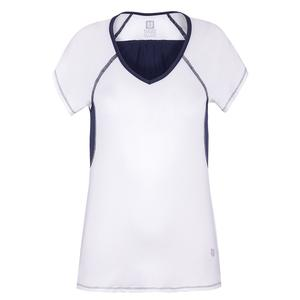 Women`s Peeky Tee Tennis Cap Sleeve White