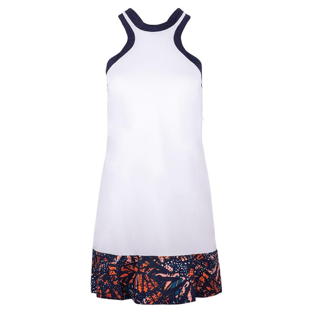 Women's Aria Tennis Dress In White And Bonita Print
