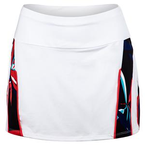 Women`s Peoria 13.5 Inch Tennis Skort Chalk and Palm Springs Print