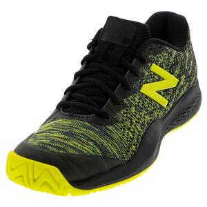 Men`s 996v3 2E Width Tennis Shoes Black and Sulphur Yellow