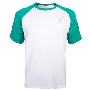 Men`s Legend Training Crew White and Match Green