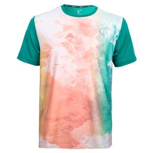 Men`s Mesh Back Ventilator Tennis Crew Color Run