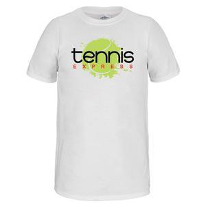 Unisex Tennis Express Logo Tee White