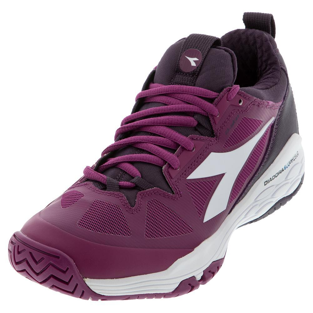 Women's Speed Blushield Fly 2 Clay Tennis Shoes Boysenberry And Perfect Plum