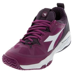 Women`s Speed Blushield Fly 2 Clay Tennis Shoes Boysenberry and Perfect Plum