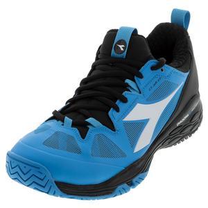 Men`s Speed Blushield Fly 2 Clay Tennis Shoes Black and Malibu Blu