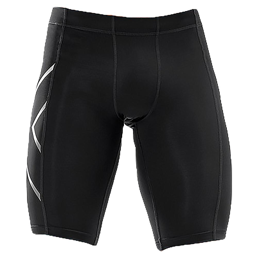 Men's Compression Shorts Black And Silver