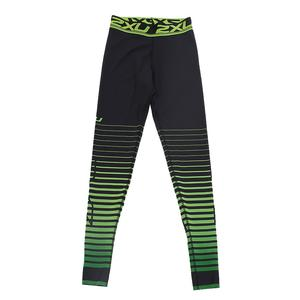 Women`s Power Recovery Compression Tights Black and Green