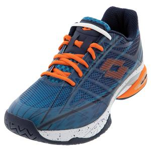 Men`s Mirage 300 Speed Tennis Shoes Mosaic Blue and Red Orange