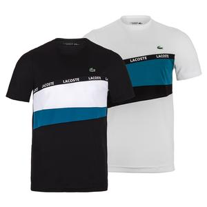 Men`s Performance Color Block Lacoste Tape Training Tee