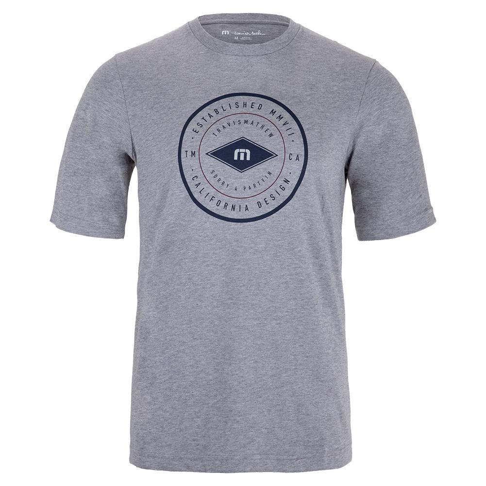 Men's Beuchler Tennis T- Shirt Heather Grey