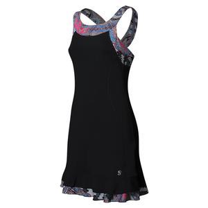 Women`s Tennis Dress Black and Moroccan Print