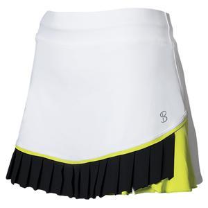 Women`s 13 Inch Tennis Skort White and Black