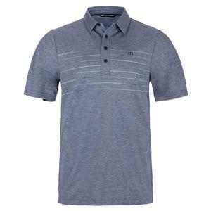 Men`s Good Good Tennis Polo Heather Mood Indigo