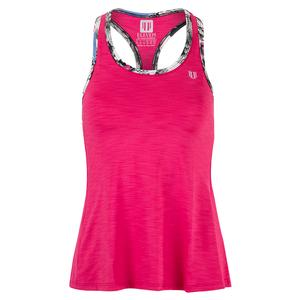 Women`s Race Day Tennis Tank Raspberry