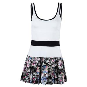 Women`s Volley Tennis Dress White and Phoenix Print