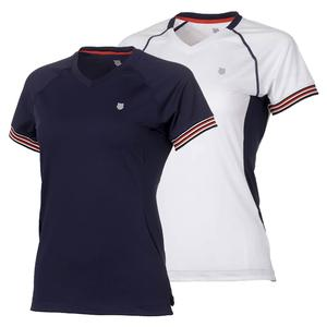 Women`s Heritage Short Sleeve Tennis Top
