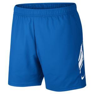 Men`s Court Dry 7 Inch Tennis Short Signal Blue