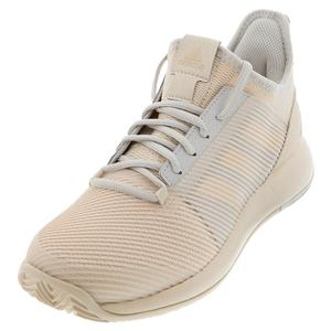 Women`s Adizero Defiant Bounce 2 Tennis Shoes Linen and Gray One