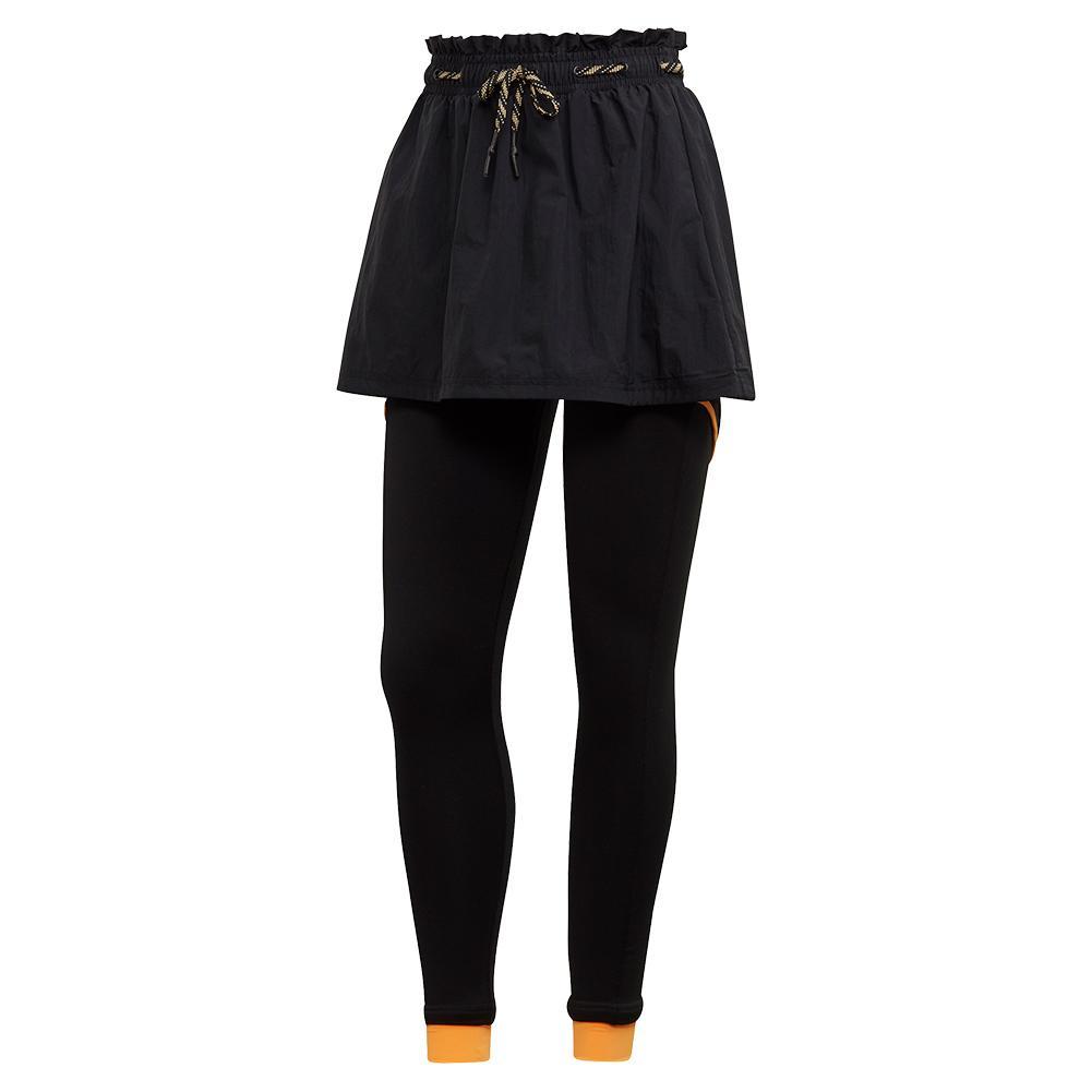 Women's 2in1 Tennis Skirt Legging Black