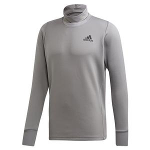 Men`s Thermal Midlayer Tennis Top Grey Three