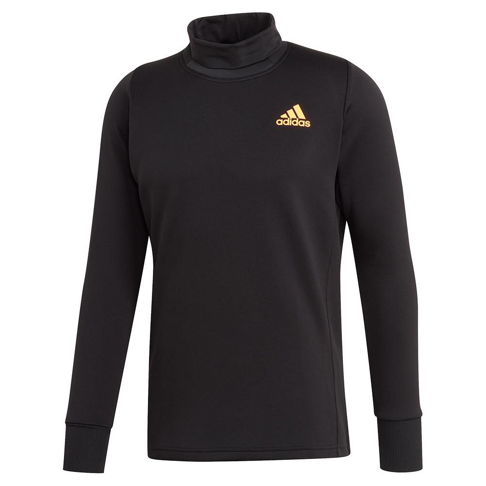 Men's Thermal Midlayer Tennis Top Black