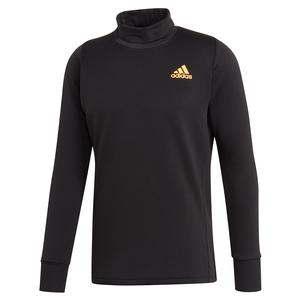 Men`s Thermal Midlayer Tennis Top Black