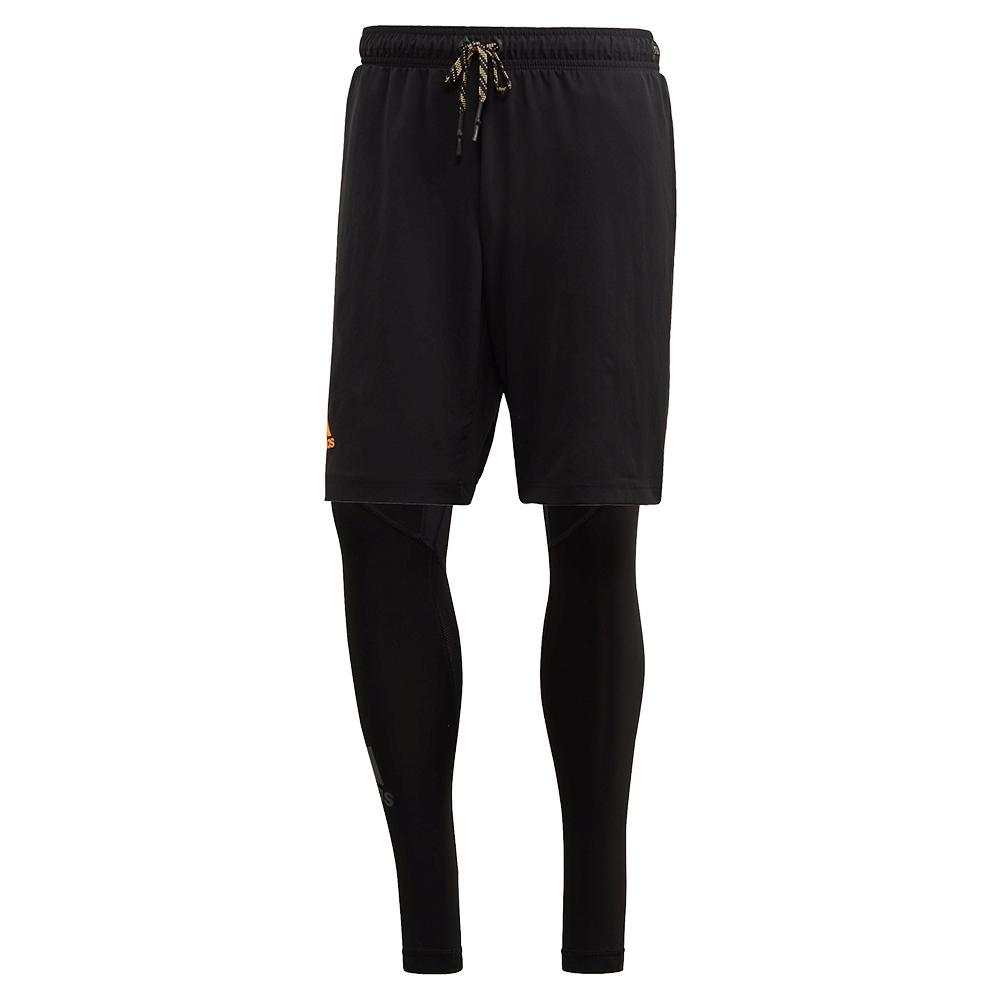 Men's 2in1 Tennis Short Black