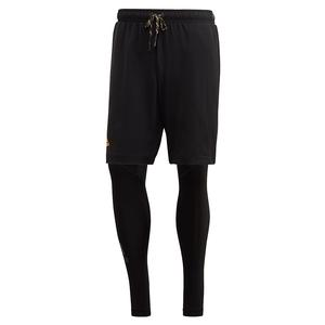 Men`s 2in1 Tennis Short Black