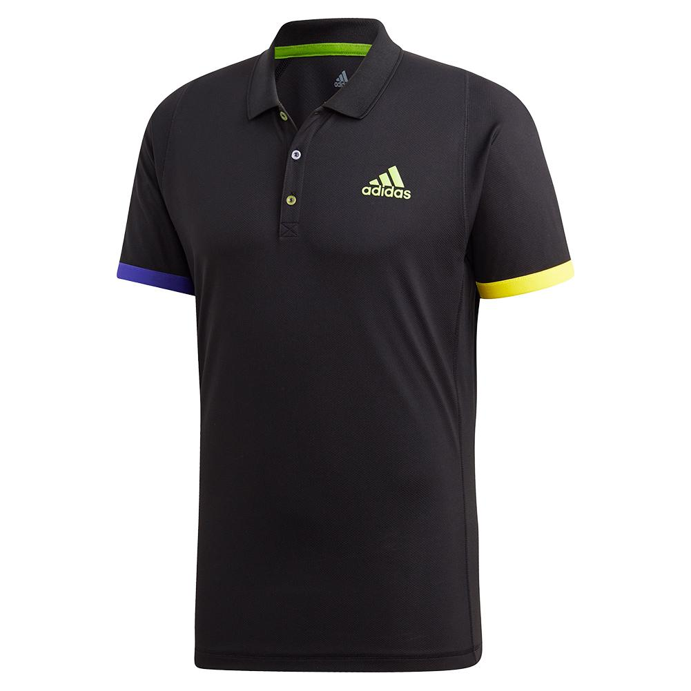 Men's Limited Edition Tennis Polo Black And Semi Solar Green