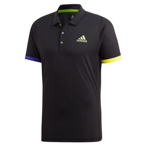 Men`s Limited Edition Tennis Polo Black and Semi Solar Green