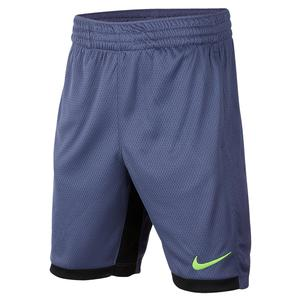 Boys` 8 Inch Training Shorts Sanded Purple and Electric Green
