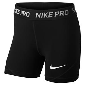 Girls` Pro Boyshorts Black and White