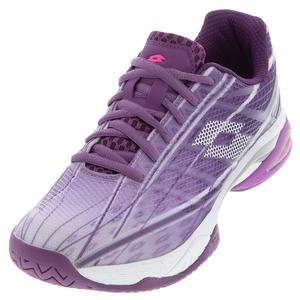 Women`s Mirage 300 Speed Tennis Shoes Charisma Violet and All White